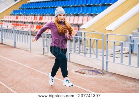 Young Woman Sportswoman.
