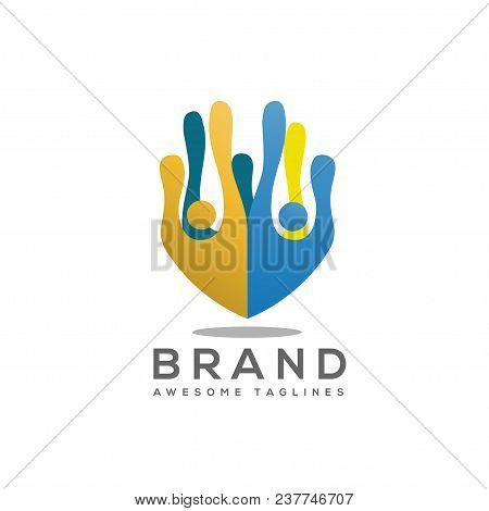 Creative People Crowd Community Logo Colorful Vector,people Color Community Logo Vector, People Fitn