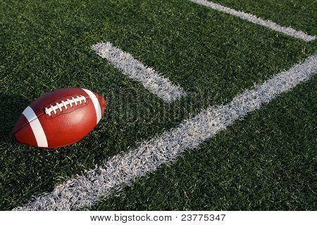 Football Near The Yard Lines