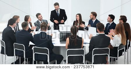 business negotiations at the round table
