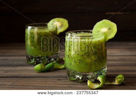 A Refreshing Cocktail Of Kiwi And Lime