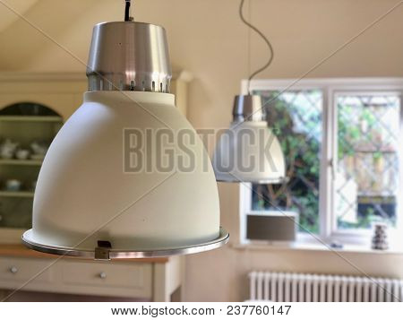 Contemporary interior hanging dining room lights