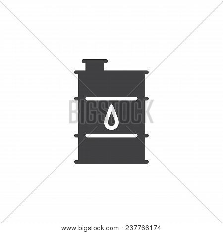 Oil Barrel Vector Icon. Filled Flat Sign For Mobile Concept And Web Design. Barrel Simple Solid Icon