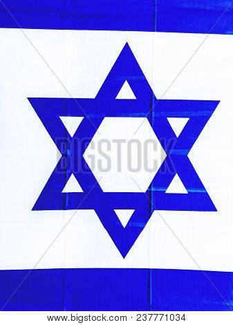 The Flag Of Israel On The Yom Haatzmaut, Israel Independence Day