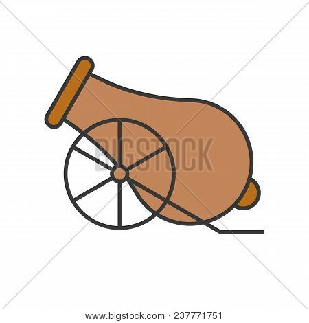 Cannon Filled Outline Icon For Ramadan Kareem