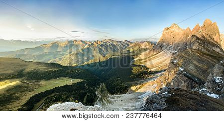 Alps Mountain Panorama In Dolomiti Alps, Italy