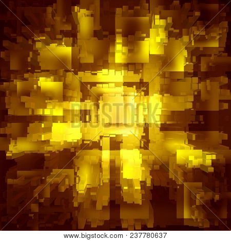 abstract gold squares on a dark background
