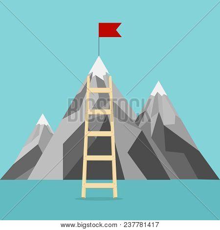 Career, Career Ladder, Climb The Career Ladder. Flat Design, Vector Illustration, Vector.