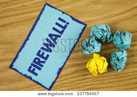 Word Writing Text Firewall Motivational Call. Business Concept For Malware Protection Prevents Inter