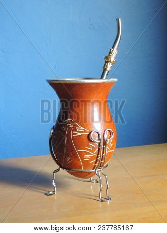 Gourd For Drinking Tea Typical Of Southern Brazil, Uruguay And Argentina