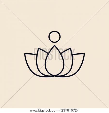 Illustration of a lotus flower