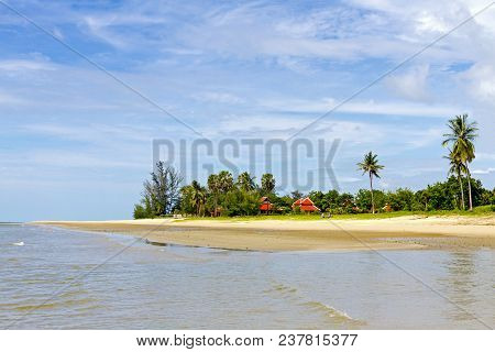 Beach Beautiful And Peaceful At Tap Sakea Beach Prachuap Khirikhan Province, Thailand