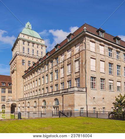 Zurich, Switzerland - 13 October, 2013: The Main Building Of The University Of Zurich. The Universit