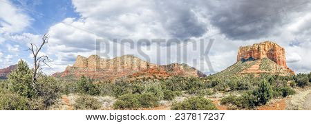 Stunning Rock Formations Abound In The Desert Landscape Surrounding Sedona, Arizona. Seen Here, Unde