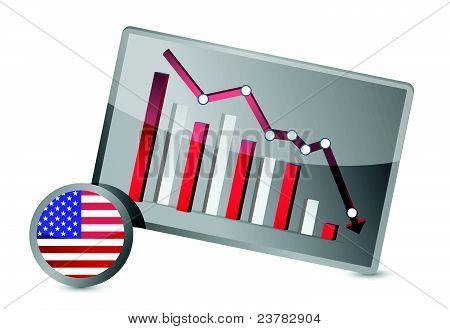 US suffering crisis graph design