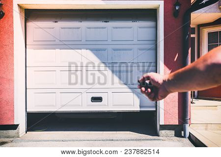 White Garage Door Pvc With Remote Controller