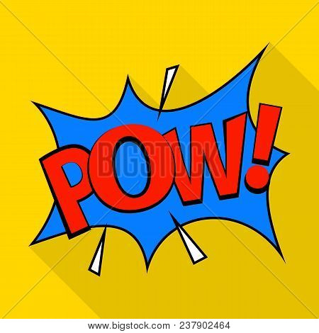 Pow Icon. Pop Art Illustration Of Pow Vector Icon For Web