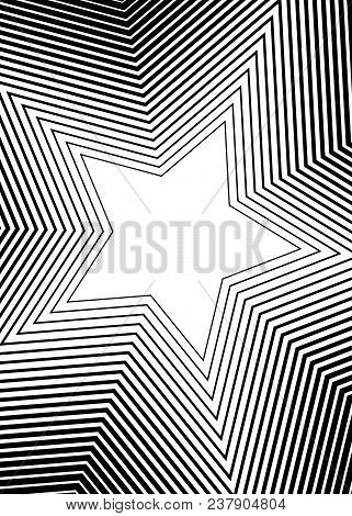 Design Elements Symbol Editable Icon - Silhouette Star, Isolated On White Background. Lines Differen