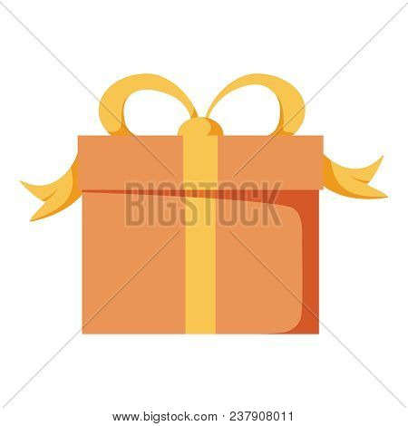 Vector Gift Box Or Holiday Present Package Celebration Illustration, Giftbox Icon. Fun Party With Gi