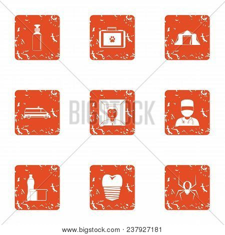 Far Edge Icons Set. Grunge Set Of 9 Far Edge Vector Icons For Web Isolated On White Background