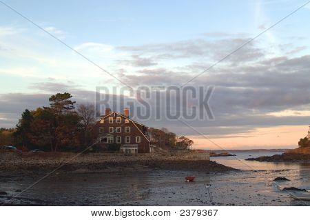 Marblehead, Low Tide View At Sunset