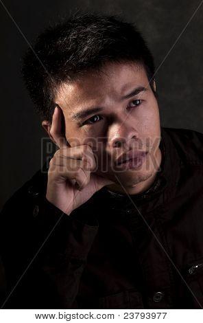 Chinese Man Thinking