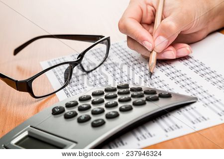 Calculator Data Analysis Analysis Businessman Closeup Business Analysis Financial Analysis