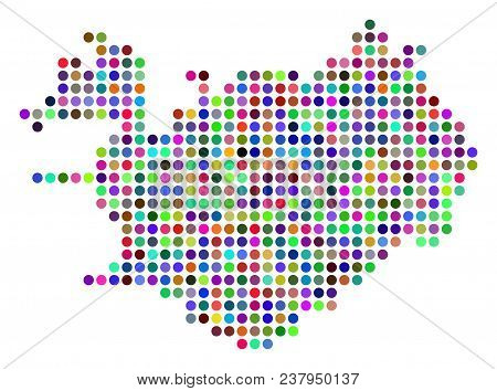 Colored Pixel Iceland Vector & Photo (Free Trial) | Bigstock