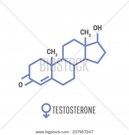 Sex Hormones Molecular Formula. Testosterone Hormones Symbol.