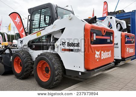 Vilnius, Lithuania - April 25: Bobcat Heavy Duty Equipment Vehicle And Logo On April 25, 2018 In Vil