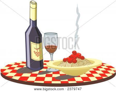 Spaghetti & Wine