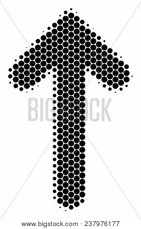 Halftone Circle Arrow Direction Icon. Pictogram On A White Background. Vector Concept Of Arrow Direc