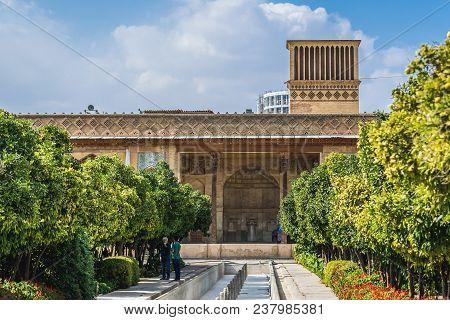 Shiraz, Iran - October 23, 2016: Inside Garden Of Karim Khan Citadel In Shiraz City