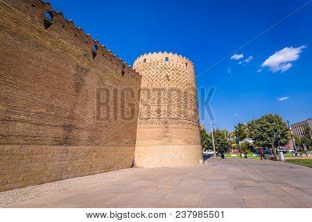 Shiraz, Iran - October 23, 2016: Exterior View On The Walls Of Karim Khan Citadel In Shiraz City