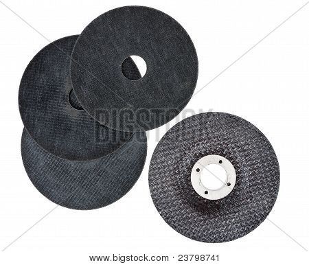 Angle Grinder Discs, Assorted, Isolated Over White Background