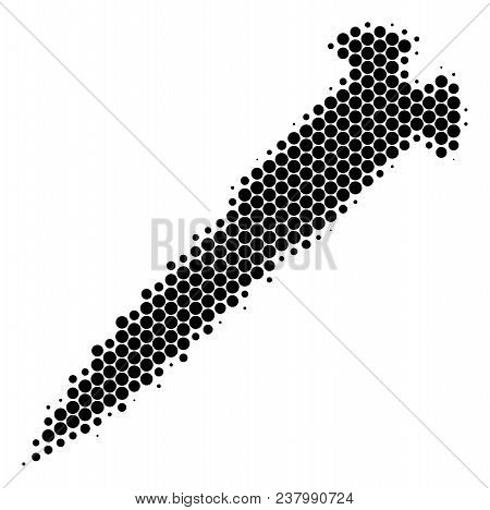 Halftone Round Spot Screw Icon. Pictogram On A White Background. Vector Collage Of Screw Icon Constr