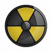 Radiation grunge symbol on on white background. Vector illustration.Style Sepia. poster