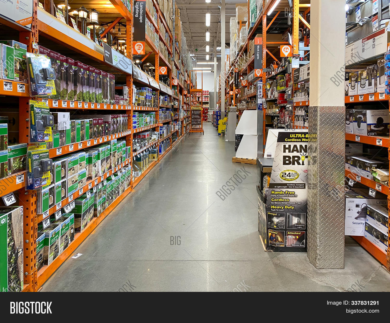 Aisle Home Depot Image Photo Free Trial Bigstock