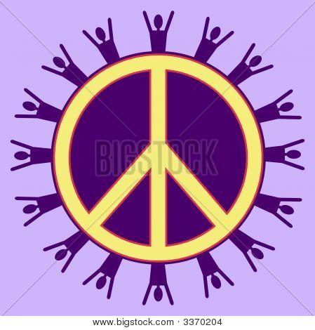 Purple Peaceful People
