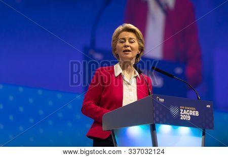 Ursula Von Der Leyen During Epp Congress In Zagreb