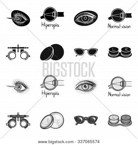 Vector Design Of Optometry And Medicine Symbol. Set Of Optometry And Diagnostic Stock Vector Illustr