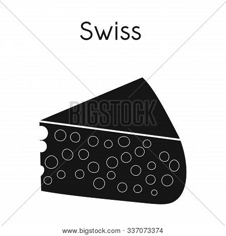 Isolated Object Of Chees And Swiss Icon. Graphic Of Chees And Piece Vector Icon For Stock.