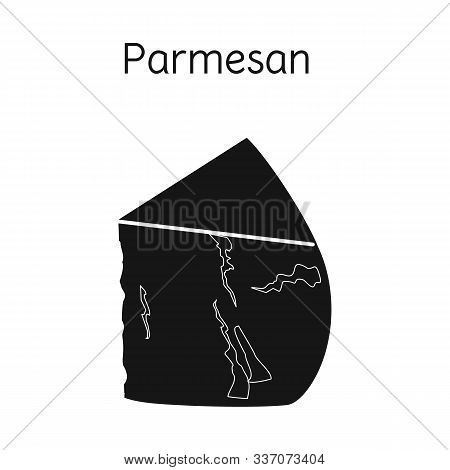 Vector Design Of Cheese And Parmesan Symbol. Web Element Of Cheese And Appetizer Stock Vector Illust