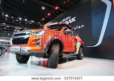 Bangkok, Thailand - December 1, 2019 : D-max V Cross Pickup Truck In Motor Expo 36th 2019 At Impact