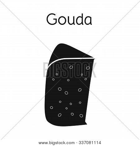 Vector Design Of Cheese And Gouda Symbol. Web Element Of Cheese And Slice Stock Symbol For Web.