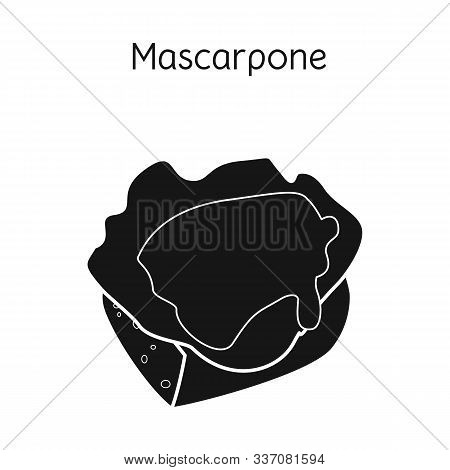 Isolated Object Of Mascarpone And Cheese Logo. Graphic Of Mascarpone And Meal Stock Vector Illustrat