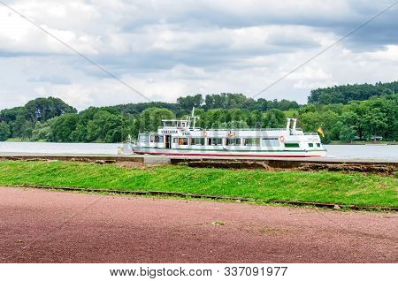 Essen, Nrw, Germany - July 9, 2015: The Passenger Ship City Of Essen From The White Fleet For Lake C
