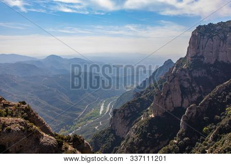 Valley Views From The Top Of Montserrat In Catalunya