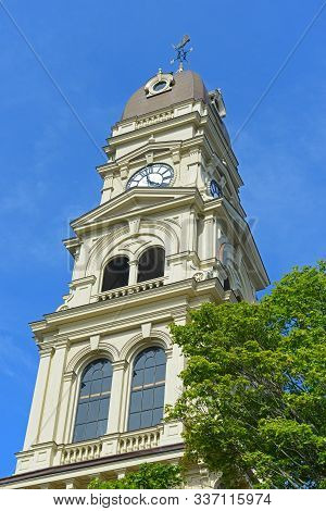 Gloucester City Hall Was Built In 1870 With Victorian And Second Empire Style. The Building Is Serve