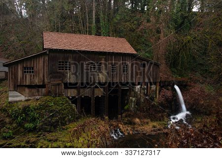 Historical Grist Mill Hidden In The Forest